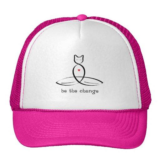 Sea el cambio - texto de lujo del estilo gorra
