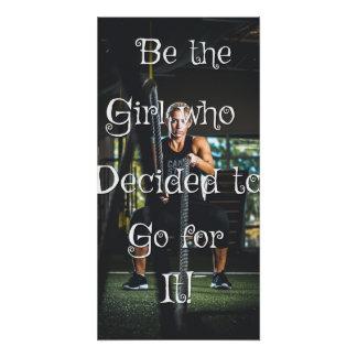 Sea el chica… Poster de motivación de la pared
