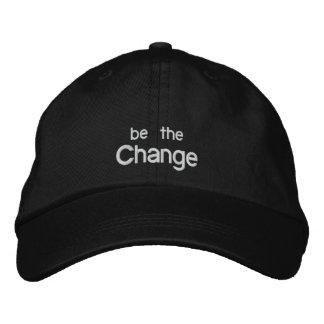 Sea el gorra /Black del bordado del cambio
