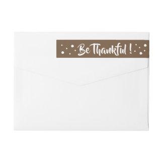 Sea etiquetas envueltas de la acción de gracias