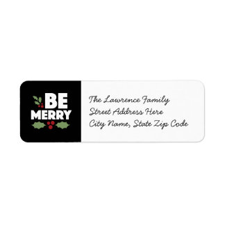 Sea felices etiquetas del remite, tarjeta de