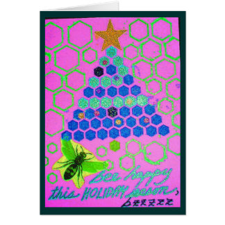 Sea feliz estas vacaciones tarjeta de felicitación