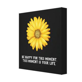 Sea feliz este momento - impresión del arte de la