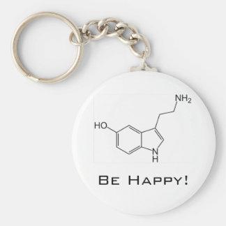 ¡Sea feliz! Llavero de la serotonina