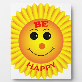 Sea feliz placa expositora