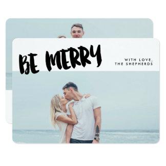 Sea feliz tarjeta de la foto del día de fiesta de invitación 12,7 x 17,8 cm