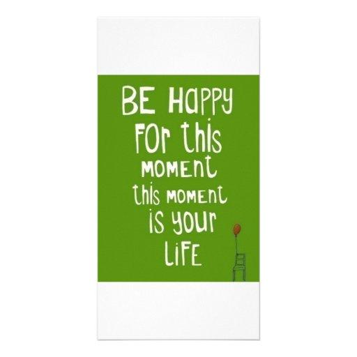 Sea feliz tarjetas fotográficas