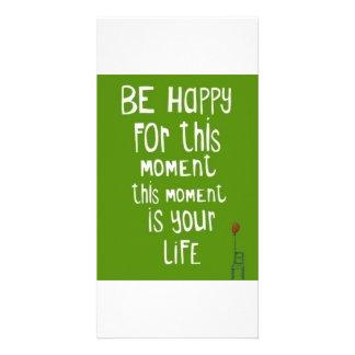 Sea feliz tarjeta fotografica