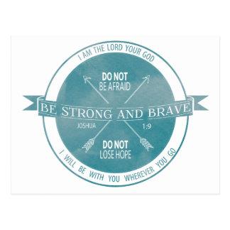 Sea fuerte y Brave, escritura del trullo Postal