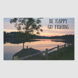 """""""Sea Go feliz que pesca"""" al pegatina"""