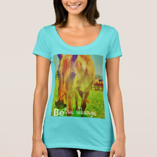 Sea la camiseta del cambio con el caballo