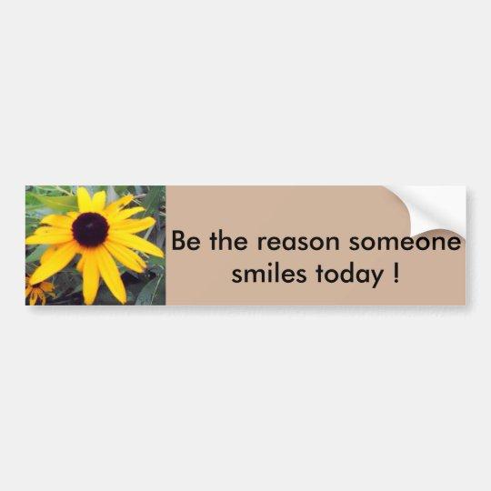 """""""Sea la razón que sonríe alguien hoy"""" Sticke de Pegatina Para Coche"""