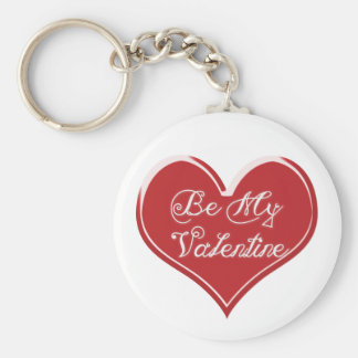 Sea mi corazón de la tarjeta del día de San Valent Llavero Redondo Tipo Chapa