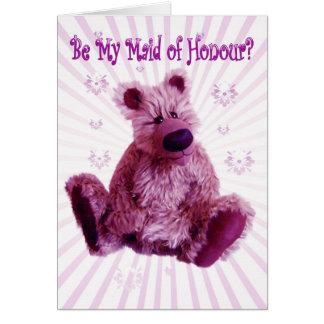 sea mi criada de la tarjeta de la invitación del b