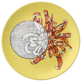 Sea mi flor plato de porcelana