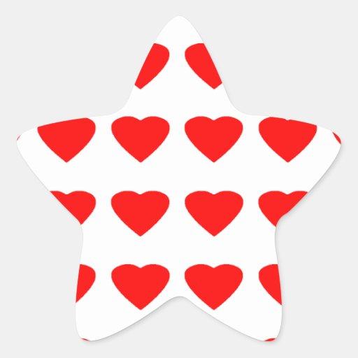 Sea mi jGibney de los corazones 36Red Transp de la Colcomanias Forma De Estrellaes Personalizadas
