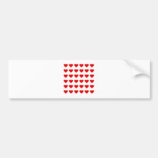 Sea mi jGibney de los corazones 36Red Transp de la Etiqueta De Parachoque