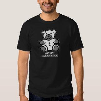 Sea mi negro blanco del oso de la tarjeta del día camisetas