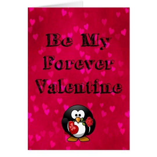 Sea mi pingüino de la tarjeta del día de San