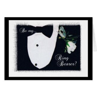 ¿Sea mi portador de anillo? Tarjeta De Felicitación