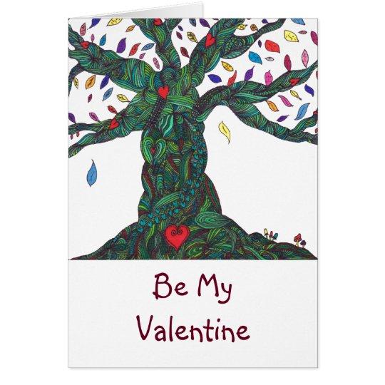 Sea mi tarjeta del día de San Valentín - árbol del