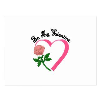 Sea mi tarjeta del día de San Valentín Postal