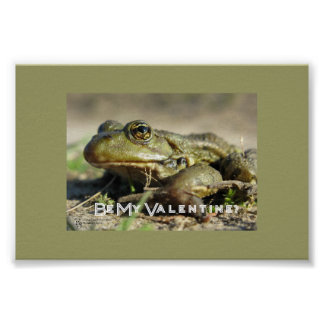 Sea mi tarjeta del día de San Valentín Póster