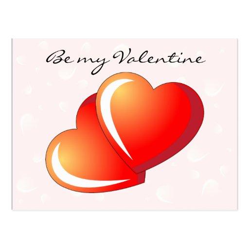 Sea mi tarjeta del día de San Valentín Tarjeta Postal