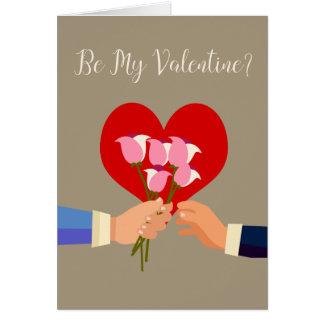 Sea mis rosas y corazón temáticos gay de la tarjeta de felicitación