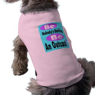 Sea nadie querido sea un tanque proveído de camiseta sin mangas para perro