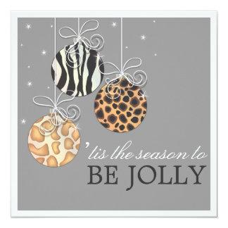 Sea navidad alegre que la celebración de días invitación 13,3 cm x 13,3cm