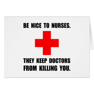 Sea Niza a las enfermeras Tarjeta Pequeña