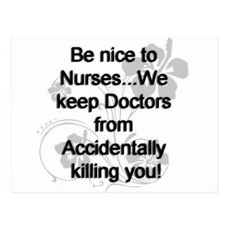 Sea Niza a las enfermeras Postales