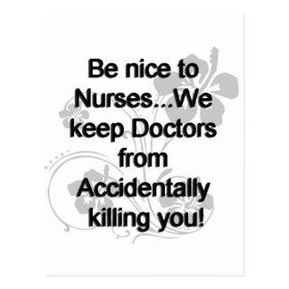 Sea Niza a las enfermeras Tarjetas Postales