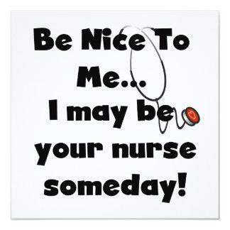 Sea Niza camisetas y regalos de la enfermera Invitación 13,3 Cm X 13,3cm