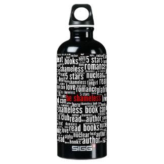 Sea nube desvergonzada de la palabra botella de agua