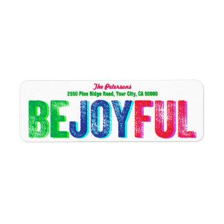 Sea personalizado colorido alegre de la prensa de etiqueta de remite