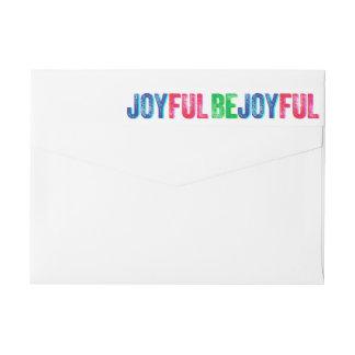 Sea personalizado colorido alegre de la prensa de etiquetas envolventes de remitente