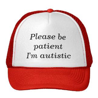 Sea por favor paciente yo son autístico (el gorro