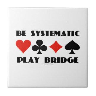 Sea puente sistemático del juego (cuatro juegos de azulejo cuadrado pequeño