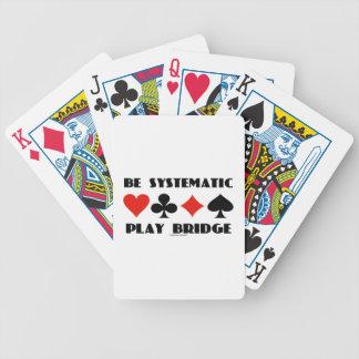 Sea puente sistemático del juego (cuatro juegos de baraja cartas de poker
