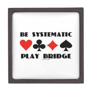 Sea puente sistemático del juego (cuatro juegos de cajas de joyas de calidad