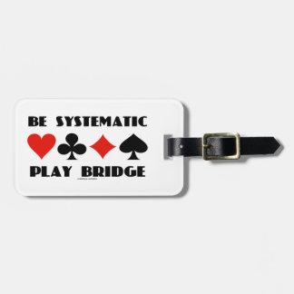Sea puente sistemático del juego (cuatro juegos de etiquetas de maletas
