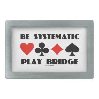 Sea puente sistemático del juego (cuatro juegos de hebilla de cinturón rectangular