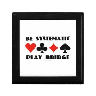 Sea puente sistemático del juego (cuatro juegos de joyero cuadrado pequeño