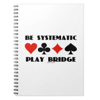 Sea puente sistemático del juego (cuatro juegos de libros de apuntes con espiral