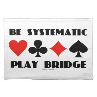 Sea puente sistemático del juego (cuatro juegos de manteles individuales