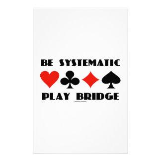 Sea puente sistemático del juego (cuatro juegos de papeleria de diseño