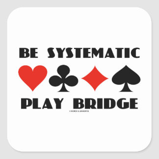 Sea puente sistemático del juego (cuatro juegos de pegatina cuadrada
