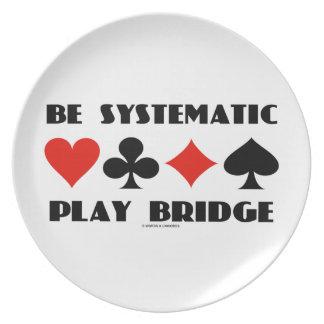 Sea puente sistemático del juego (cuatro juegos de platos